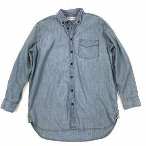Madewell Chambray Boyfriend Button Down Shirt Sz S